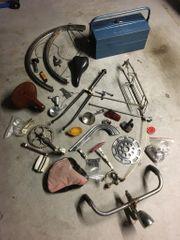 Konvolut Waffenrad Fahrrad Ersatzteile Werkzeugkiste