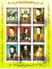 Briefmarken-Kleinbogen Bildnisse europäischer Herrscher