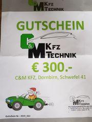 Gutschein C M KFZ Dornbirn