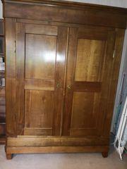 Vintage Kleider- Wäscheschrank Kirsche massiv