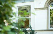 Schöner Büroraum mit Gartenblick in