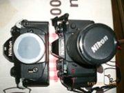 2x Spiegelreflexkamera m Zubehör