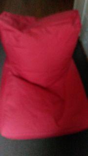 Kombi Sitzsack Sessel in Rot