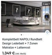 Designer Komplettbett Rund Lederbett 7