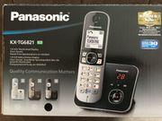 Panasonic Festnetztelefon mit Anrufbeantworter zu