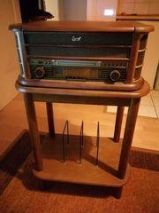 Dual Nostalgie-Stereo-Musikcenter inkl Holzstandfuß