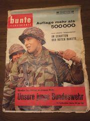 Alte Zeitung Bunte Illustrierte von