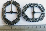 18 Metall Gürtelschnallen Antik Silberfarben