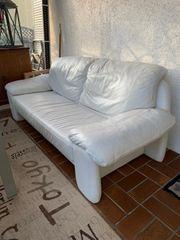 Couch Koinor hochwertig Echtleder weiß