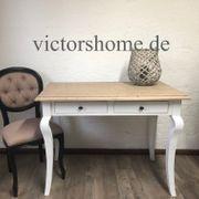 Weisser Schreibtisch kleiner Sekretär Platte
