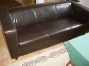 3- und 2-Sitzer-Sofa dunkles Kunstleder
