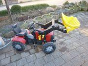 Trettraktor Rolly Toys rot groß