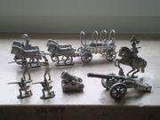Zinnsoldaten mit Pferdegespann