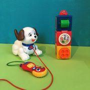Spielzeug Nachziehtier Spieltelefon Stapelwürfel