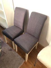4 Stühle mit grauem Bezug