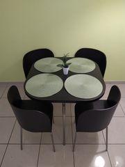 Ikea Fusion Esstisch mit Stühlen
