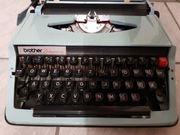 Schreibmaschine Reiseschreibmaschine brother deluxe vintage