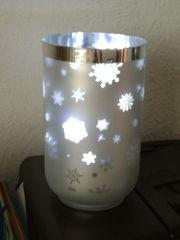 Weihnachtsbeleuchtung Teelicht Kerze Glas Schneeflocke