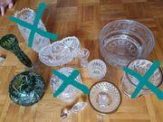 Bleikristall Vasen und Schalen mit