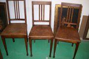 3 antike Stühle Eiche ca