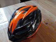 neuwertiger Fahrradhelm ALPINA orange - schwarz