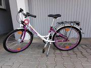 Mädchen Fahrrad lila weiß