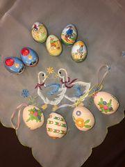 Keramik Eier Ostern Blecheier nostalgisch
