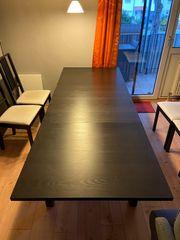 IKEA BJURSTA Esstisch ausziehbar schwarzbraun