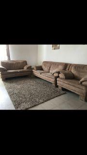 Couch Garnitur 3 teilig alcantara