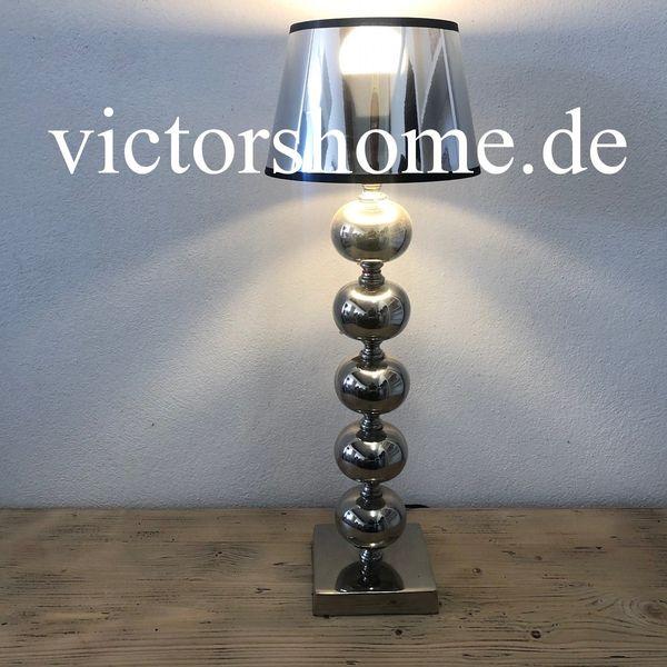 Tischlampe Stehlampe Stehleuchte silber Breite