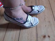 weiße Halbsneaker sneaker chucks Turnschuhe