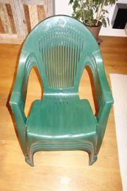 Gartenstühle Kunststoff grün 4 Stk