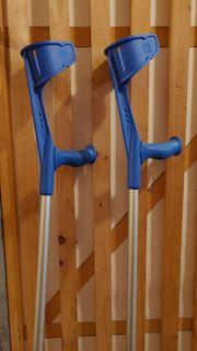 Krücken Gehhilfe blau