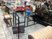 Metall Verkaufstisch mit Glaspalette Höhe