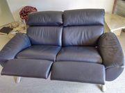 SCHILLIG 2-Sitzer-Couch echt Leder ca