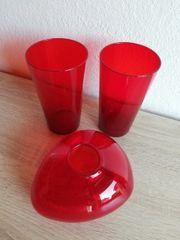 GLAS Vase 3erSet Weihnachtsdeko