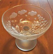Glas Dekoration Konfektschale Gebäckschale mit