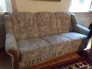 Couchgarnitur mit 2 Sesseln Schlaffunktion