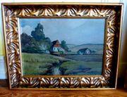 Gemälde Ölgemälde Norddeutsche Landschaft um