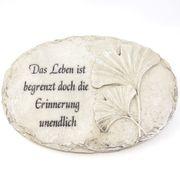 Kleine Grabplatte mit Spruch - Das