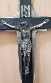 Antikes Standkreuz Tischkreuz Kruzifix auf