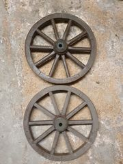 Vintage Holzräder 2 Stück