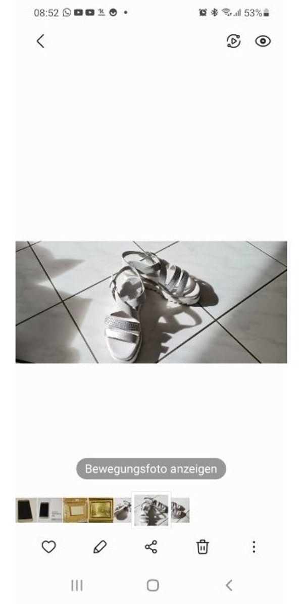 Schöne Sommer Sandale in Silber