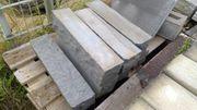 Abverkauf Palisade Naturstein anthrazit Granit