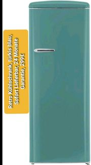 Retro Kühlschrank türkis blau sofort