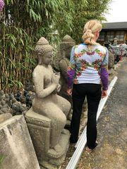 Großer Stein Buddha echte Steinmetzarbeit