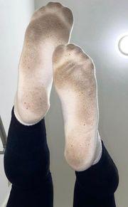 Getragene Socken Schuhe und oder