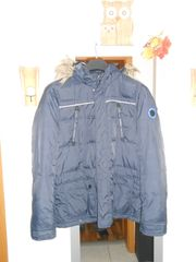 Winterjacke mit Kaputze blau Gr