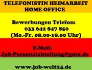 Telefonistin Job Heimarbeit Job Homeoffice