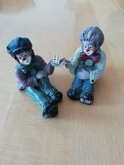Zwei Gilde Clowns Würfelspiel unbeschädigt